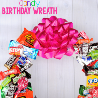 Candy Birthday Wreath